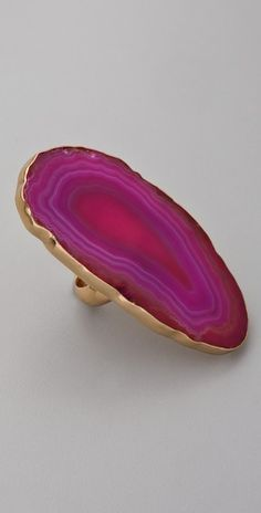 Diamonds are a girl's best friend... But sometimes a gorgeous slice of agate will do!