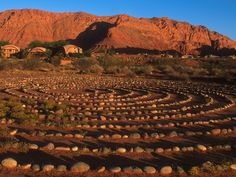 Red Mountain Resort & Spa, St. George, Utah. Loved walking this labrynth...felt a real connection to mother nature