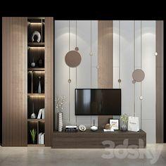 Living Room Tv, Living Room Modern, Living Area, Tv Shelf, Shelves, Wall Tv Stand, Tv Panel, 3d Models, Tv Cabinets