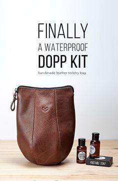 15330b8264 Personalized Leather Dopp Kit Bag