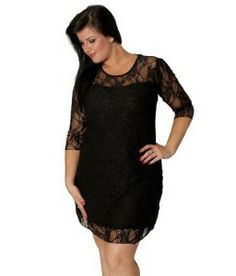 R Richards Plus Size Dress Three Quarter Flutter Sleeve One ...