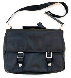2c14017b0399 Very Nice Black Leather COACH Messenger Bag Briefcase Model F70666 NR   fashion  clothing  shoes  accessories  mensaccessories  bags (ebay link)
