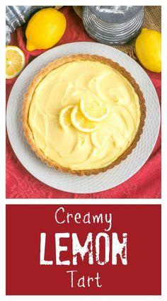 Creamy Lemon Tart | A French citrus tart that will dazzle every lemon lover! @lizzydo