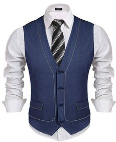 Coofandy Men's Business Suit Vest Slim Fit SKINNY Wedding Waistcoat Large for sale online Wedding Vest, Wedding Waistcoats, Indian Men Fashion, Mens Fashion Suits, Waistcoat Men, Tuxedo For Men, Suit Vest, Suit Fabric, Men Dress