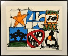 """""""No Hate"""" Large Screen Print"""
