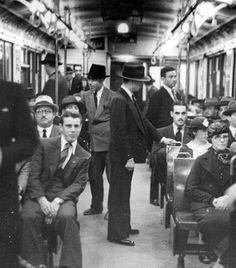 Subte en los años 40s. Subte línea A, el primero de sudamérica y el tercero del mundo. Buenos Aires, Argentina