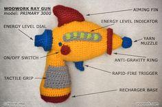 Crochet Ray Gun from WooWork :)