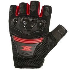 Luva Texx Sparta Esportiva Meio Dedo C/ Proteção Vermelha - Masada Moto