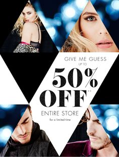 Guess Black Friday Sale Email Newsletter Design