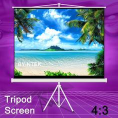 198.99$  Buy now - http://aliolv.worldwells.pw/go.php?t=32720180547 - Cheapest Factory Supply Best Quality Matte White 84inch 4:3 Tripod Table Portable Projection Projector Screen For Office 198.99$