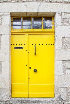 Sunflower Yellow Door Photograph from $15