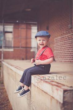 Azalee Photography » urban photo shoot, vintage shoot, liitle boy, 2 year old photos, downtown Columbia sc, redhead