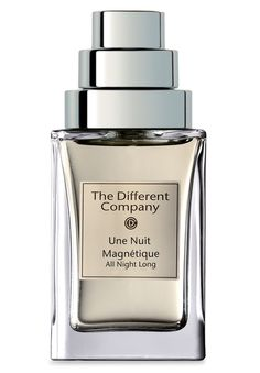 Une Nuit Magnetique Eau de Parfum by The Different Company: Ginger, bergamot, blueberry, egyptian jasmine, turkish rose, tuberose, plum, benzoin, patchouli, amber, musk and woody notes.