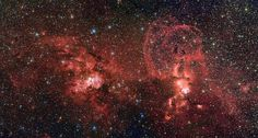 The European Southern Observatory's La Silla Observatory in Chile snapped the star cluster NGC 3603 and NGC 3576 nebula lighting up the southern Milky Way. Hubble Space Telescope, Space And Astronomy, Space Images, Space Photos, Milky Way Photos, Carina Nebula, Star Formation, Alien Worlds, Star Cluster