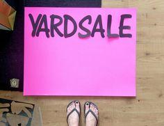 Yard Sale Signs by FotoBella Design Team Member Jeri using her Silhouette Cameo, found at FotoBella.com
