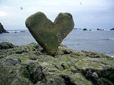 Heart rock found on South Harbor Beach, Fair Isle Shetland Islands, Scotland