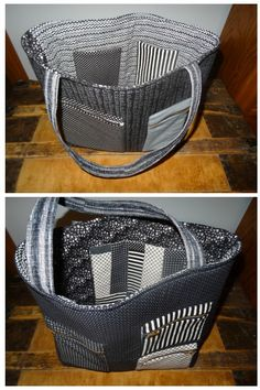 Zippered bag using 10 fat quarters