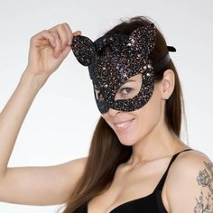 Leather mask cat for woman Kitten Mask BDSM Item Gift