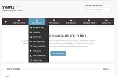 Symple - Responsive, Business WordPress Theme by Justin Young, via Behance