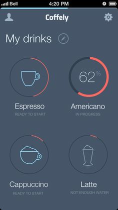 My-drinks We drink a ton of coffee 'round here. I think this app could come in handy. Plus the interface is beautiful.