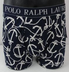 NWT Polo Ralph Lauren Anchor Knit Boxers Mens Small Navy Blue & White Allover  #PoloRalphLauren #Boxer