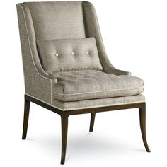 Upholstered Accents Laurie Chair w/ Tufted Seat by Drexel Heritage® - Baers Furniture - Exposed Wood Chair Miami, Ft. Lauderdale, Orlando, Sarasota, Naples, Ft. Myers, Florida