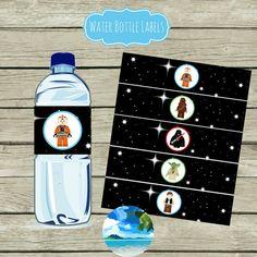 Star Wars Water Bottle Labels  Digital by CoastalInvitations