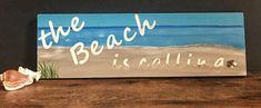 Wood sign-The Beach is calling-Beach decor wood sign-Beach decor sign-coastal decor-beach house decor-wall sign-seascape-wood art-beach art The Wea, Beach House Decor, Home Decor, Beach Signs, Beach Art, Coastal Decor, Wood Wall Art, Wall Signs, Wall Decor