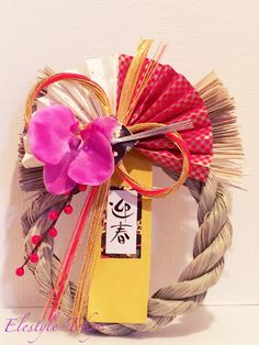 """This is """"shimenawa"""". Shimenawa is the japanese traditional  display in the New Year to pray happy of family  and to protect us from evil."""