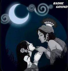 Radha-Krishna in the Night