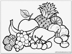 Drawing of fruit basket for kids large size of coloring pages cat easy for girls fruit page adults fruits splendid architecture synonyms in hindi Vegetable Coloring Pages, Fruit Coloring Pages, Coloring Pages For Girls, Coloring Pages To Print, Free Printable Coloring Pages, Coloring For Kids, Coloring Books, Coloring Sheets, Photo Fruit