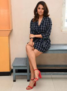 TV Anchor Anasuya Bharadwaj Hot Long Cross Legs Thighs TV actress Photographs TV ACTRESS PHOTOGRAPHS | IN.PINTEREST.COM #ENTERTAINMENT #EDUCRATSWEB