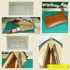 Unisex Wallet Leather Handphone Organizer Pro (UWLHOP) by Ye Rhinos. Type = Semi Oil Pull Up Size =25x15Cm  Price IDR/Rp.600.000,--