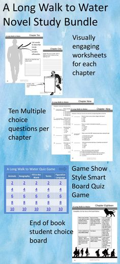 Awesome Class Activity To Go With The Book A Long Walk To Water By
