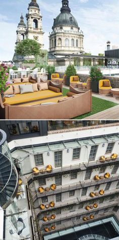 The rooftop bar of the Aria Budapest hotel offers a very good lunch, and we loved the look and the feel of the place too. It's one of THE places to go for sunset and evening drinks.