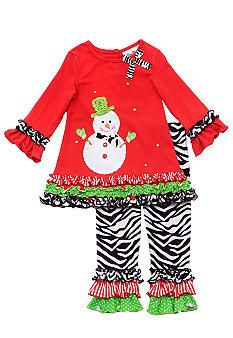 Rare Editions Snowman Legging Set - Caylee's Christmas pic outfit this year! So excited!