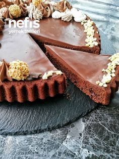 Chocolate ganache cake (you know the taste differently ornament) – delicious recipes … - Nutella 2019 Chocolate Ganache Cake, Cake Tasting, Cupcake Recipes, Yummy Food, Delicious Recipes, Nutella, Tart, Desserts, Healthy Recipes
