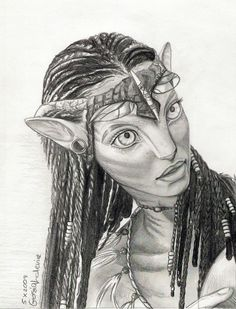 Avatar Fan Art: Neytiri drawing You are in the right place about drawings easy Here we offer you the most beautiful pictures about the drawings unique you are looking for. Dark Art Drawings, Art Drawings Sketches, Disney Drawings, Cool Drawings, Avatar Films, Avatar Movie, Mr Bean Desenho, Avatar Poster, Avatar Fan Art