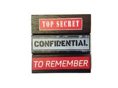 Top Secret CONFIDENTIAL To Remember Fridge Magnets by FuNkTjUnK