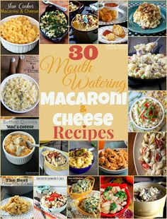 If you love mac & cheese as much as I do, then you probably know there are a million different ways to make it! I've put together a list of 30 Mouth Watering Mac & Cheese recipes and I am s. Homemade Macaroni Cheese, Mac Cheese Recipes, I Love Food, Good Food, Yummy Food, Great Recipes, Favorite Recipes, Interesting Recipes, Yummy Recipes