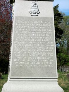 Stonington Founders Monument, Minor side