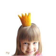 Crown Headband - Girl headband - Crown - yellow - golden