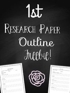 Research Paper Outline Examples  Francais    Outlines