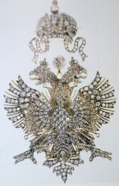 Russian made Romanov Imperial double-headed eagle brooch.