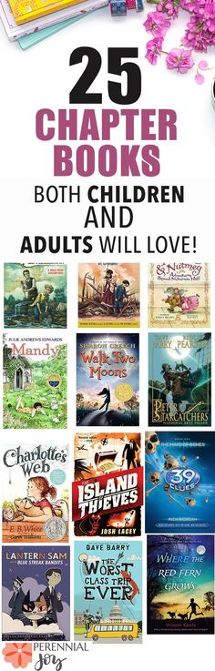 25 children's chapter books to read aloud this summer. Both kids AND adults will love this book list! Ages 8-13. Curated by 5 book lovers. Perennialjoy.com