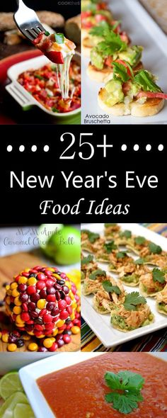 More than 25 New Year's Eve Food Ideas-Appetizers, Dips, Desserts and More! newyearsevepartyideasfood More than 25 New Year's Eve Food Ideas-Appetizers, Dips, Desserts and More! newyearsevepartyideasfood More than 25 New Year's Eve Foo New Year's Eve Appetizers, Appetizer Recipes, Simple Appetizers, Bruschetta, Tapas, New Years Eve Dinner, New Years Eve Party Ideas Food, New Years Eve Dessert, Ideas Party