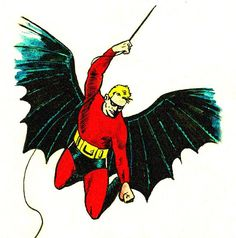 Bob Kane's first Bat-man suit was red and had no cowl