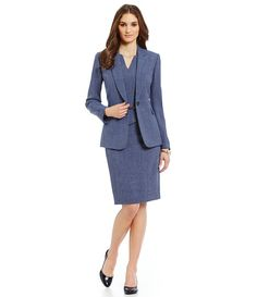 Denim suiting / mix and match with jacket pant, skirt or dress / polished / professional / sophisticated / work wear style / office chic