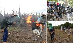 Burning the black flag of ISIS: Filippino militia take up arms