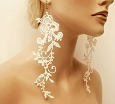 Jewelry wedding earrings exceptionally beautiful lace earrings Dare To Wear Lace Jewelry By Stitch From The Heart?wedding earrings exceptionally beautiful lace earrings Dare To Wear Lace Jewelry By Stitch From The Heart? Lace Earrings, Lace Jewelry, Fabric Jewelry, Jewelry Crafts, Wedding Jewelry, Jewelry Accessories, Wedding Earrings, Funky Earrings, Beaded Necklaces